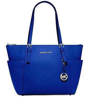 Top Handle Handbag On Sale, Electric Blue, Leather, 2017, one size Michael Kors