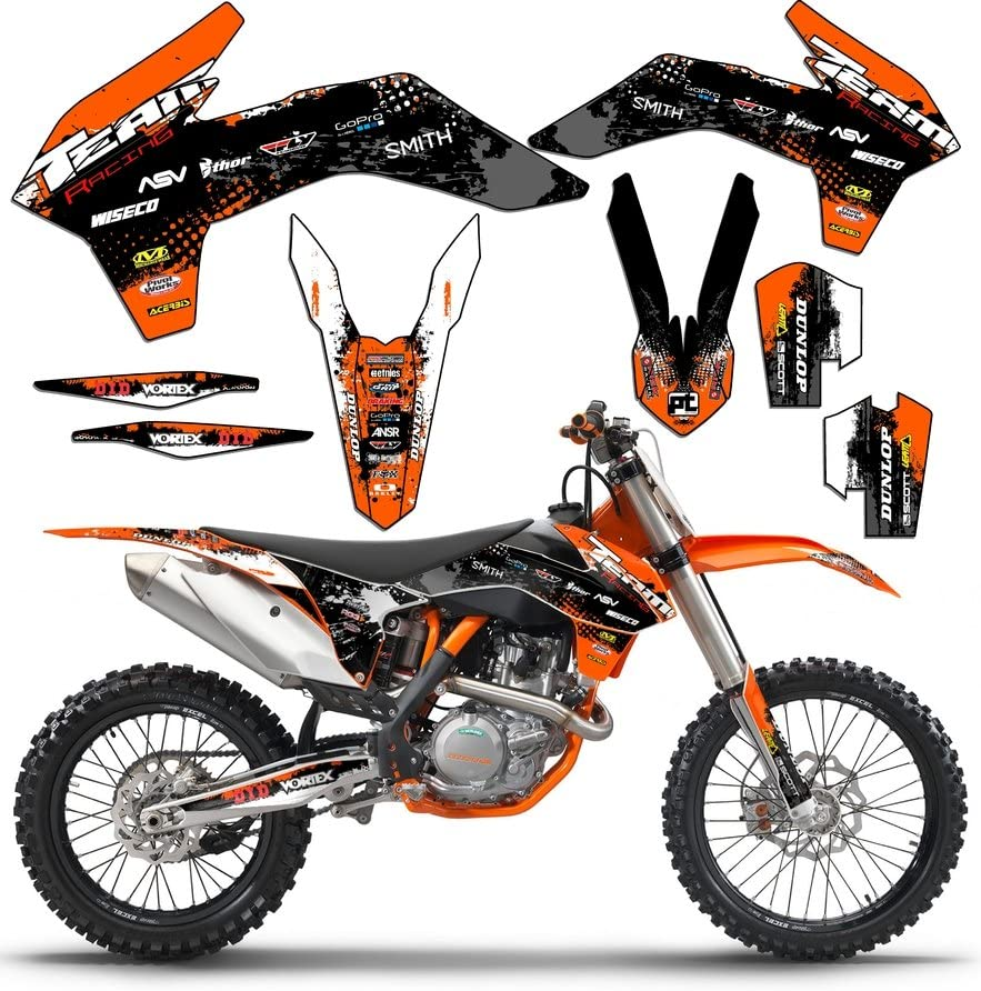 SCATTER Team Racing Graphics kit compatible with KTM 2008-2010 XCF