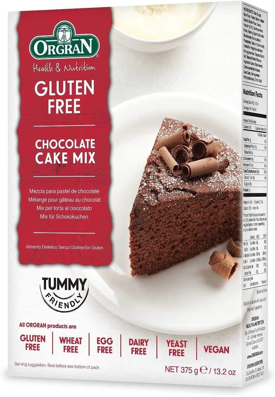 Orgran Chocolate Cake Mix en Caja - 375 gr: Amazon.es: Alimentación y bebidas