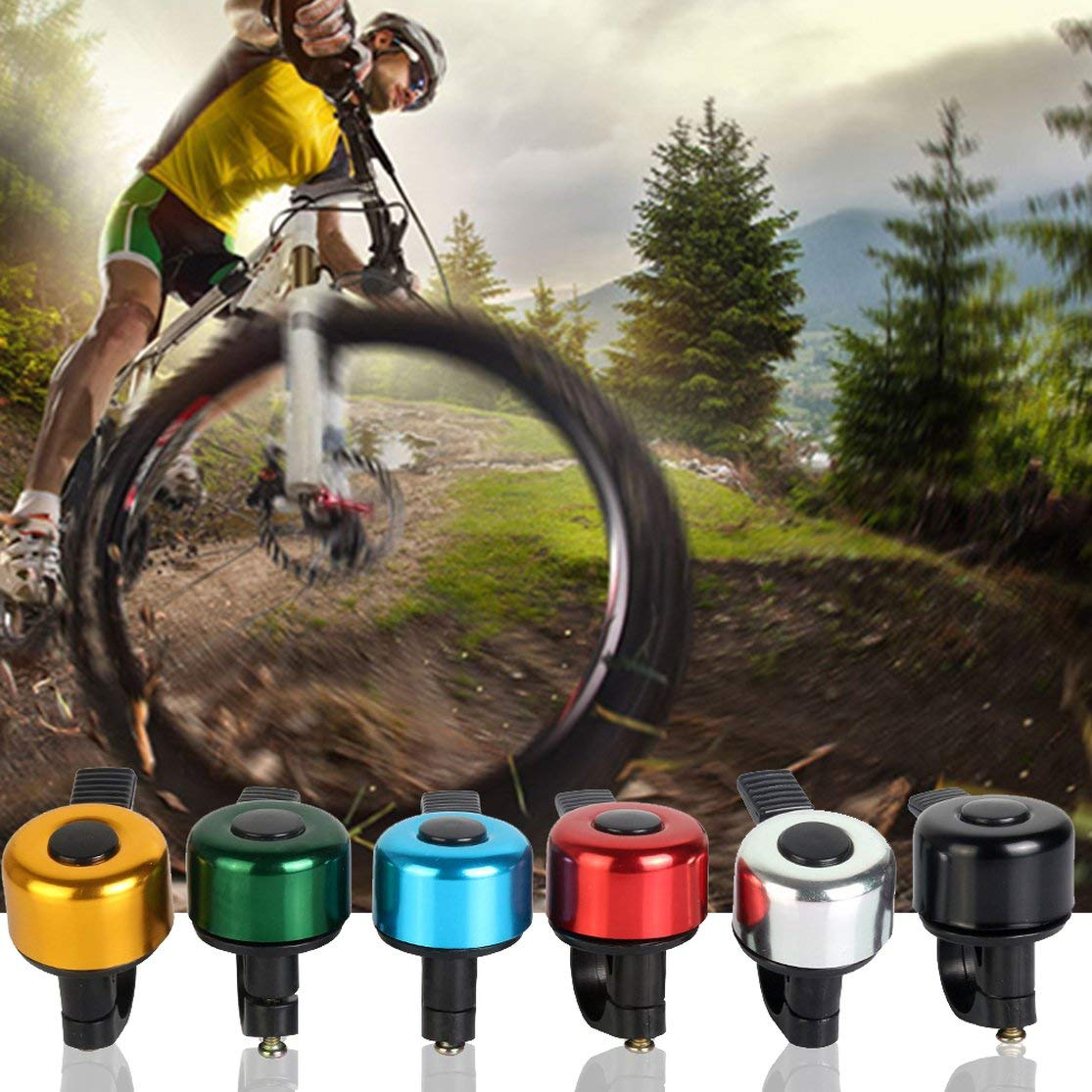 Candybarbar Campanas de Bicicleta de Aluminio duraderas adecuadas para Bicicleta Plegable MTB Bocina de Bicicleta Sonido Fuerte Accesorios de Bicicleta Anillo de Campana
