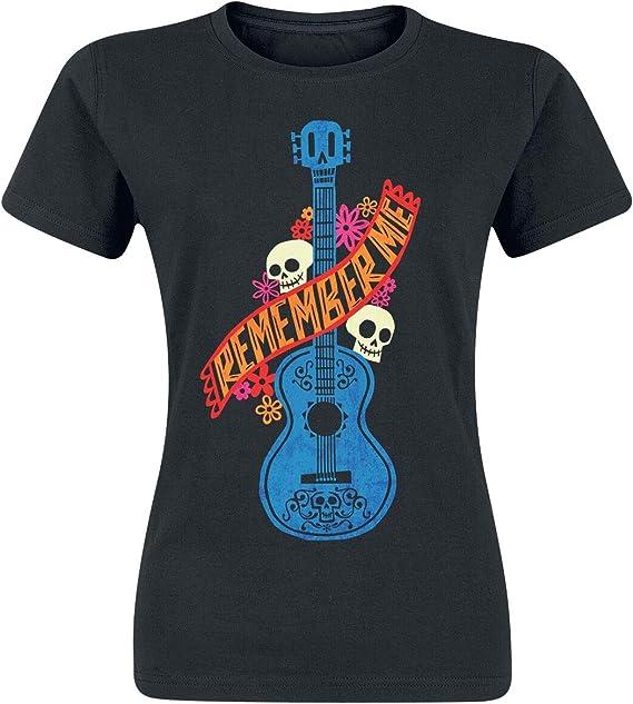 Coco Guitarra Azul Camiseta Mujer Negro XXL: Amazon.es: Ropa y ...