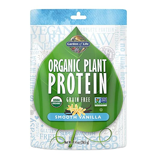 Amazon.com: Garden Of Life Organic Protein Powder   Vegan Plant Based  Protein Powder, Vanilla, 9.4 Oz (265g) Powder: Health U0026 Personal Care