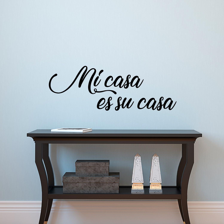 "Vinyl Wall Art Decal - Mi Casa ES Su Casa - 10.5"" x 30"" - Decoration Vinyl Sticker - Welcoming Quotes - Living Room Indoor Outdoor Friendly Quote Sticker Wall Decals for Home Decor"
