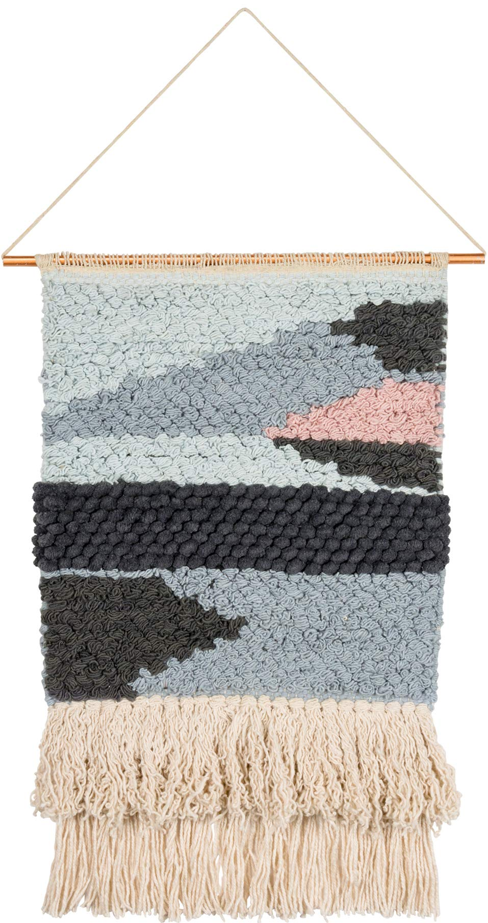 Primitives by Kathy Explorer Woven Wall Hanging, Cotton and Metal, 13 inches x 22 inches
