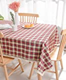 Nobildonna 55x72Inch Gingham Checkered Won't Shrink Tablecloth,Buffalo Plaid Tablecloths, Rectangular Polyester Tablecloth