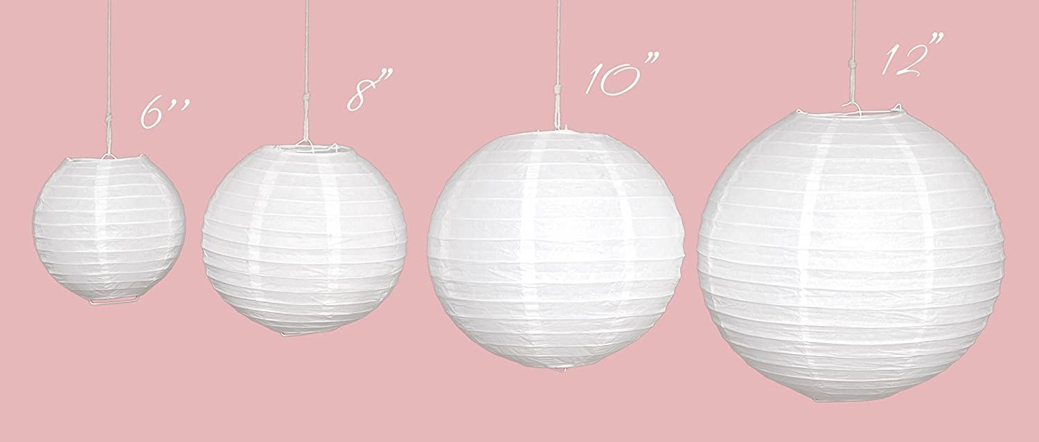 White Paper Lanterns - Birthday, Party and Wedding Decorations - 12 ...