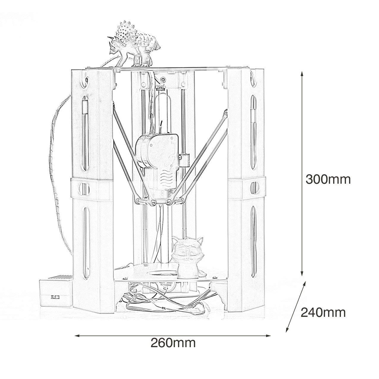 Kit de impresora USB de alta precisión DIY Desktop Impresión 3D ...