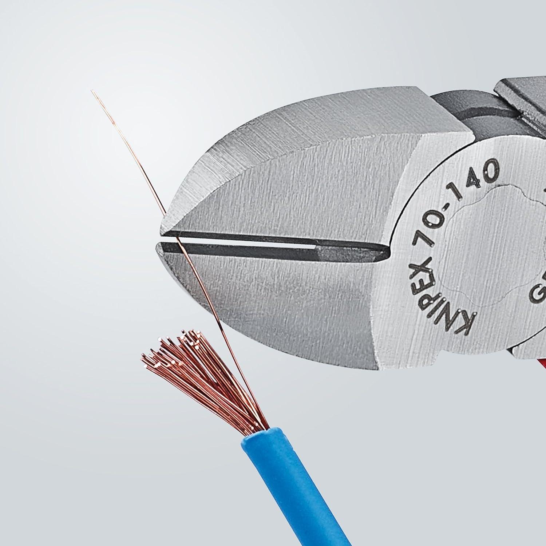 coupe pr/écise jusqu/'/à /Ø 4,0/mm longueur de 140 mm Knipex Pince coupante de c/ôt/é 70 01 140
