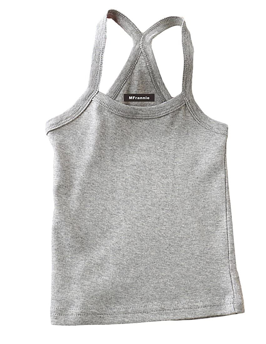 MFrannie Girls Casual Cool Pure Bright Color Tank Top Camisole Set