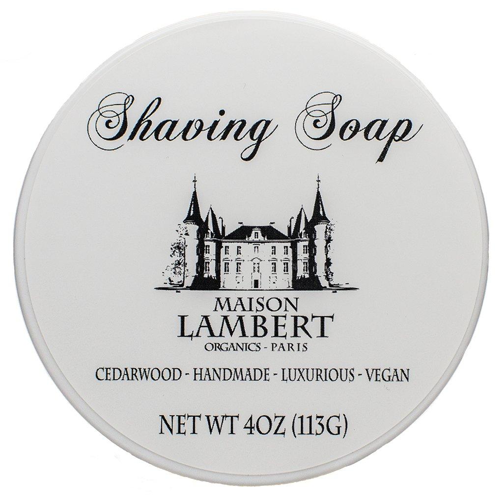 Maison Lambert Shaving Soap - Shaving Soap - Shave Soap - Organic Shaving Soap - With Argan Oil and Bentonite Clay to Protect Your Skin! 4 Oz