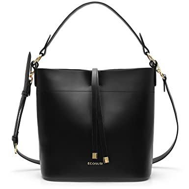 f044d13e04 Amazon.com  ECOSUSI Bucket Bag Women Top Handle Handbags Satchel Purse Tote  Bag Shoulder Bag