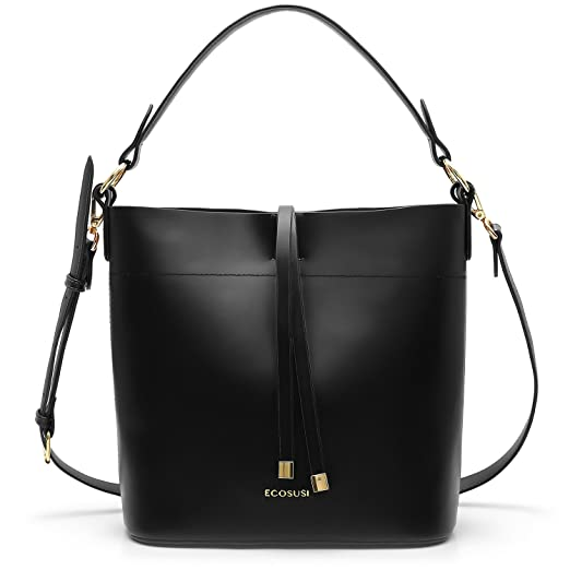 0006cf3a3402 ECOSUSI Bucket Bag Women Top Handle Handbags Satchel Purse Tote Bag  Shoulder Bag
