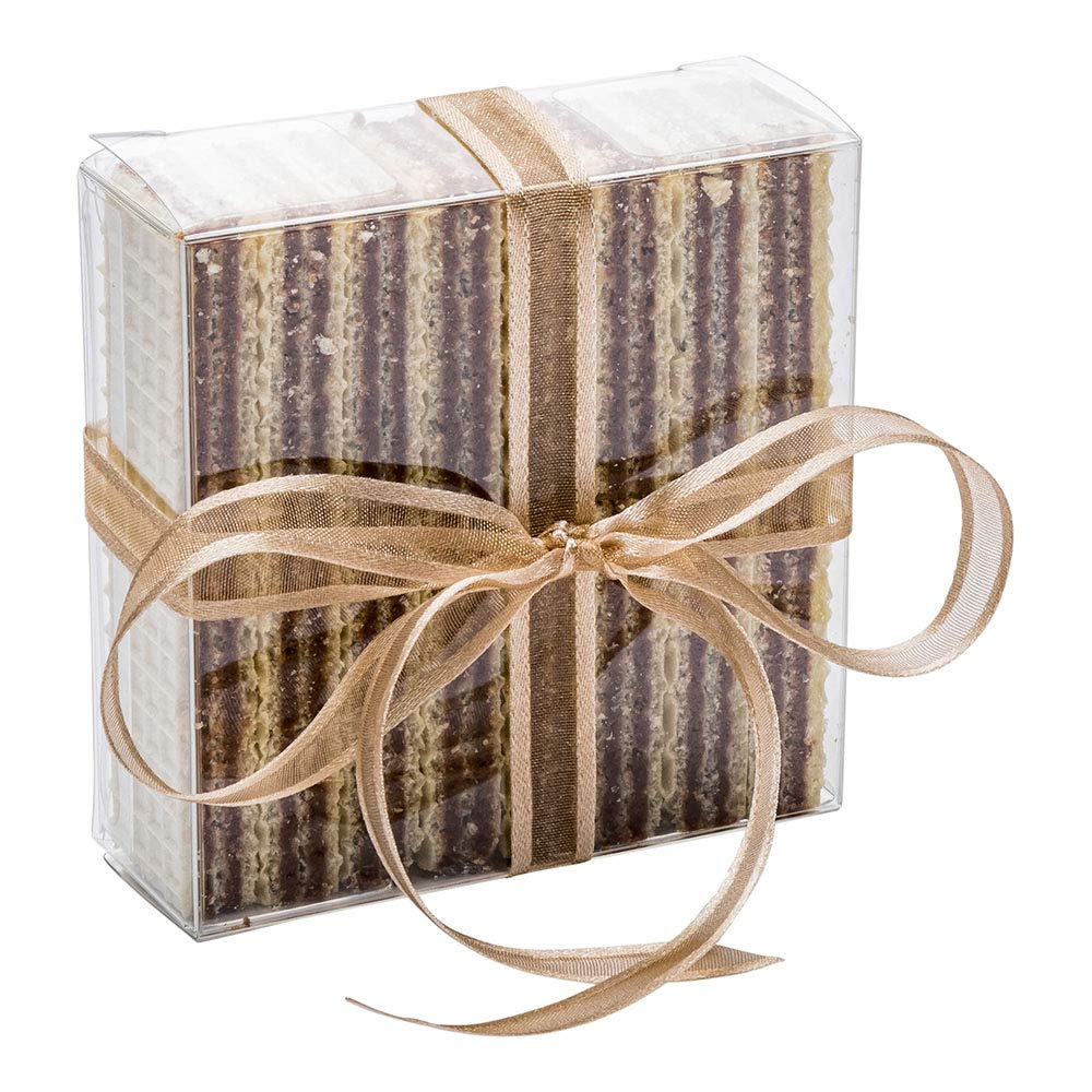 Square Candy Box, PET Transparent Boxes, Clear Gift Boxes for Wedding, Party and Baby Shower Favors - 3.3''L x 1.2''W x 3.3''H - 100ct