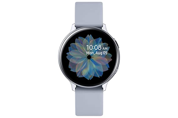 Samsung Galaxy Watch Active 2 (Bluetooth, 44 mm) - Silver, Aluminium Dial, Silicon Straps: Amazon.in: Computers & Accessories