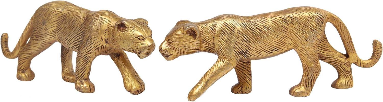 Exotic India Pair of Jaguar Home Décor Statue