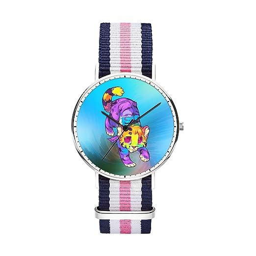 SunbirdsEast - Reloj de pulsera de flamenco para hombre, correa de nailon, analógico,