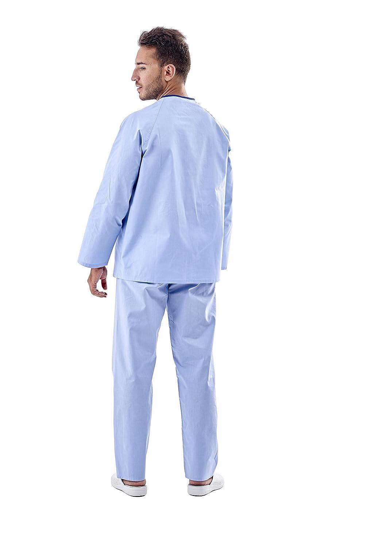 PIJAMA PACIENTE HOSPITAL CELESTE CIERRE CON BOTON (L): Amazon.es: Industria, empresas y ciencia