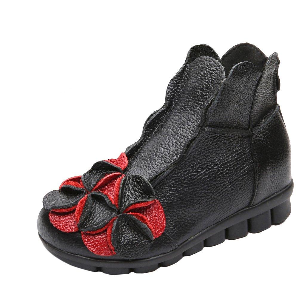 Vogstyle Damen Neu Beiläufig Blumen Handgefertigt Schuhe Schuhe Schuhe Schwarz-art 1 Fleece 37cf3b