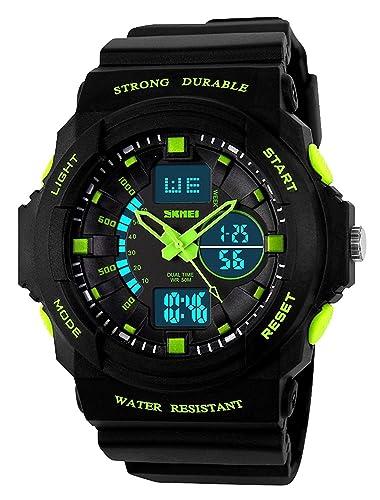 Reloj deportivo digital para niños clásico, de moda, con luz LED impermeable de 50