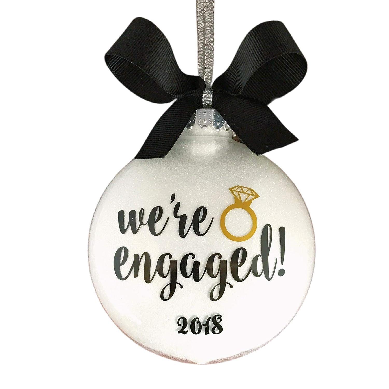Engagement ring diamond engagement wedding shower gift put a ring on it wedding burlap print engagement gift personalized burlap gift