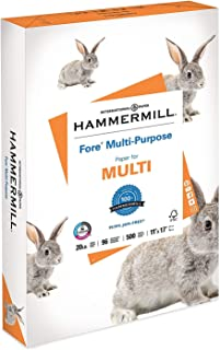 product image for Hammermill Paper, Fore Multipurpose Paper, 11 x 17 Paper, Ledger Size, 20lb Paper, 96 Bright, 1 Ream / 500 Sheets (103192R) Acid Free Paper - 6 Reams
