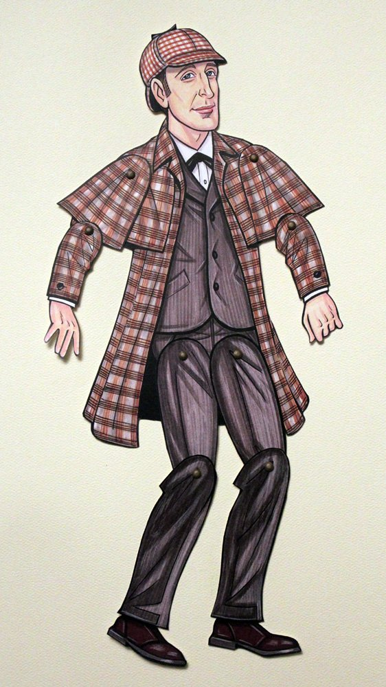 Sherlock Holmes Articulated Paper Doll