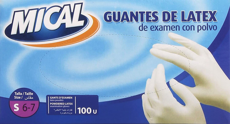 Guantes mical latex ext.t/p. 100 u