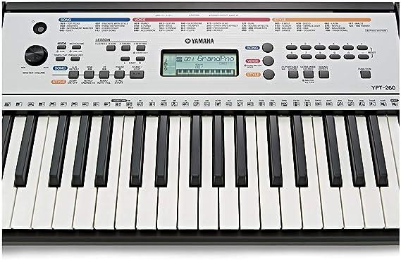 Yamaha YPT-260 - Teclado digital portátil para principiantes, 61 ...