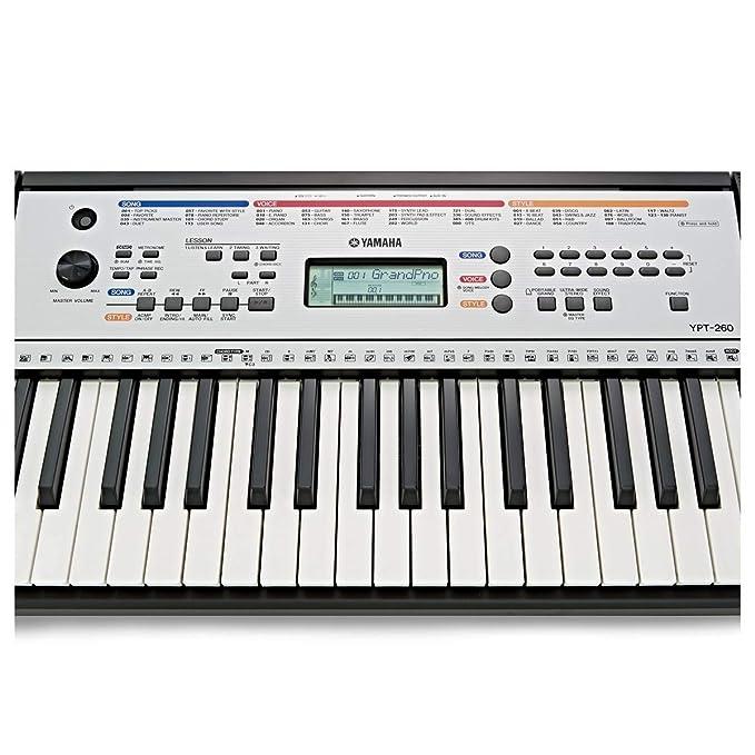 Yamaha - Teclado Electrónico portátil YPT-260: Amazon.es: Instrumentos musicales