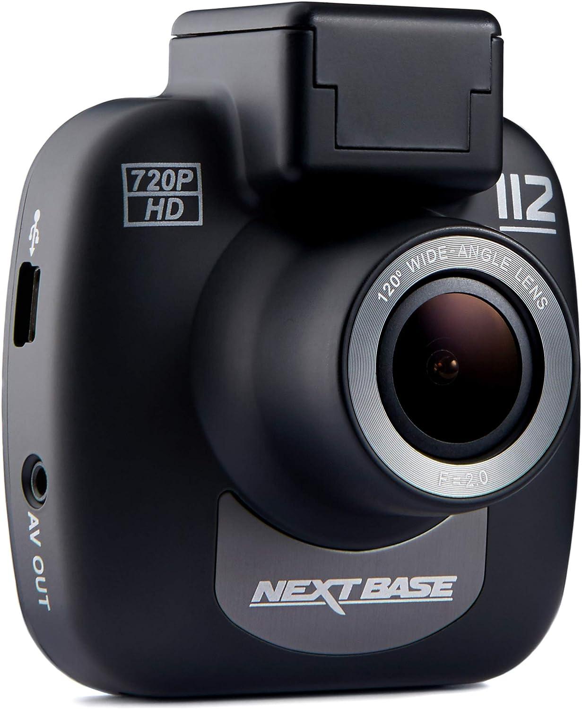 Nextbase 112 - Appareil photo numérique intégré dans une voiture Dash 720p HD - Angle de vision de 120 ° - Noir