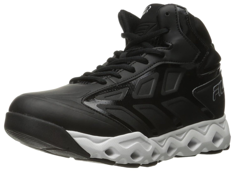 Fila Men's Torranado Basketball Shoe B01HLXOFF4 12 D(M) US|Black/White/Metallic Silver