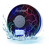 2nd Gen Hromen IPX7 Waterproof Bathroom Bluetooth Shower Speaker with FM Radio,Cool Cracking Backlit, Strong Adhesion…