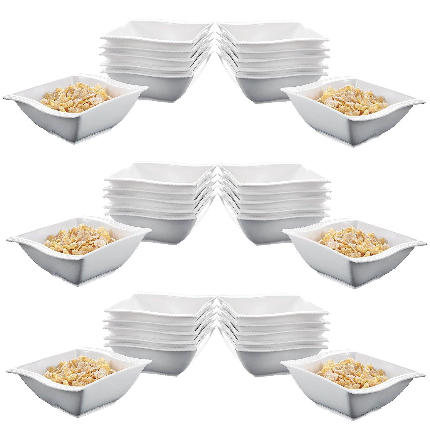 Malacasa, Series Flora, 36-Piece 5.75'' / 12oz Ivory White Porcelain China Ceramic Cream White Soup Cereal Bowls Dinnerware Bowl Set