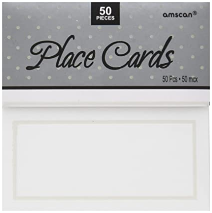 amazon com amscan pearl place card white 50 count kitchen dining
