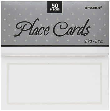 Place Cards Wedding | Amazon Com White Pearlized Wedding Place Cards 50ct Wedding And