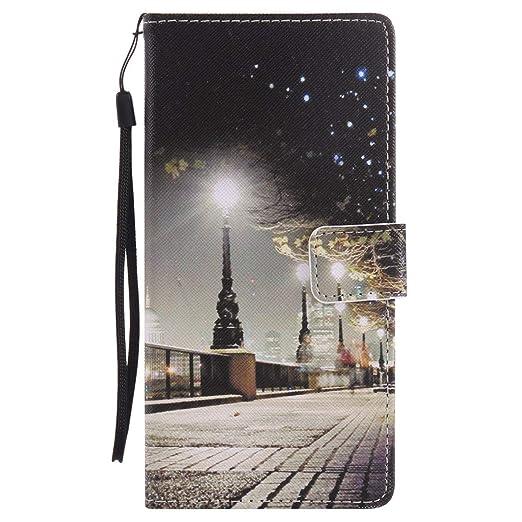 Felfy Kompatibel mit Hülle Sony Xperia XA Ultra Case Tasche Leder Flip Bookstyle Wallet Luxe Handyhülle Niedlich Farbe Muster