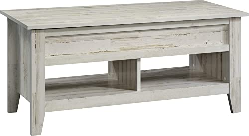 Sauder Dakota Pass Lift-top Coffee Table, White Plank finish