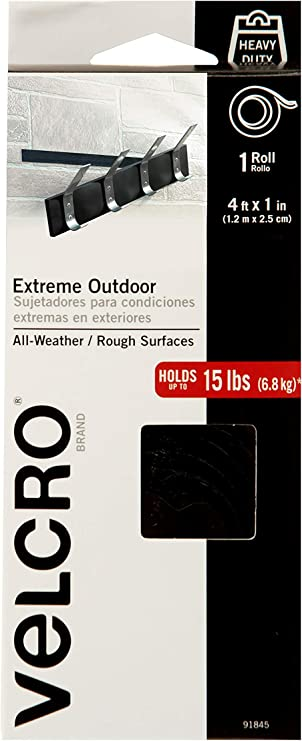 VELCRO Industrial Strength Heavy-Duty Stick On Self Adhesive Weather Resistant