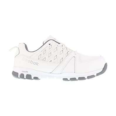6596c84a120 Reebok Mens White Leather Work Shoes ST Sublite Athletic 4 M