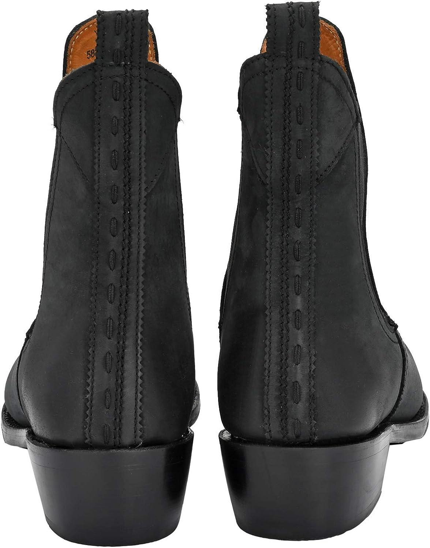 CRICK IT Damen Chelsea Boot KIRA Chelsea Boot Dekorative Naht Schwarz