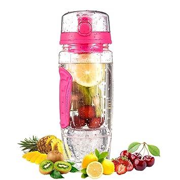 Omorc Wasserflasche Mit Fruchteinsatz Trinkflasche 1l Bpa Frei Mit