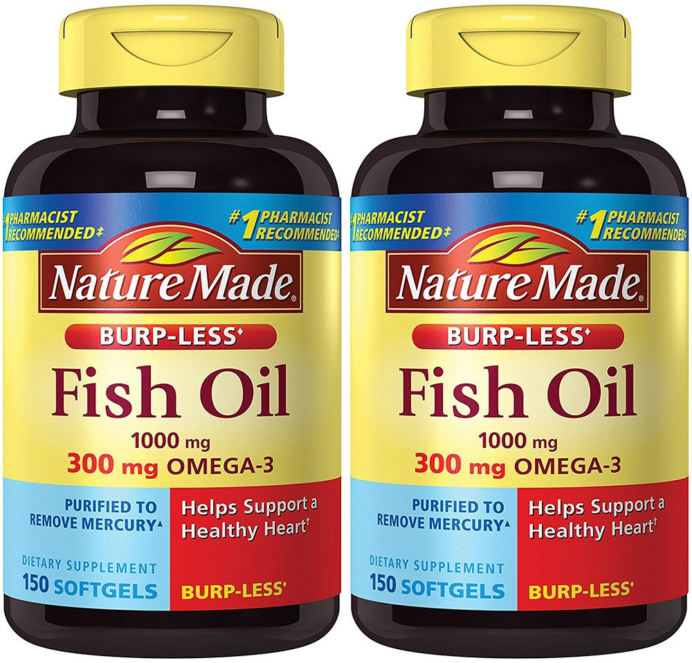 Nature Made Burpless Fish Oil 1000 Mg W Omega 3 300 Wellness 150 Buy 1 Get Free Count 2 Bottles Health Personal Care