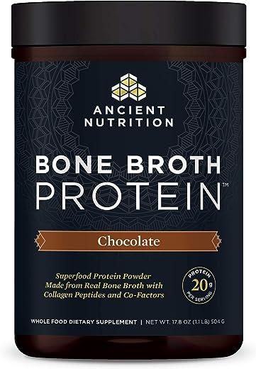 Ancient Nutrition, Bone Broth Protein, Chocolate, 17.8 oz (504 g)