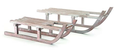 Small Foot Wooden Sledge Decoration Wood Beige 60 X 19 X 18 Cm