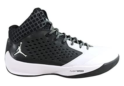 best sneakers e283d fda76 Nike Men's Jordan Rising High Basketball Shoe (11.5 M US, Black/White)