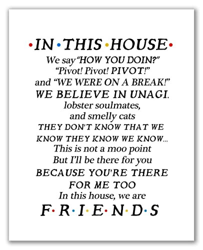 Friends Quotes Tv Series Show Poster Print Wall Hanging Decor Fan Art