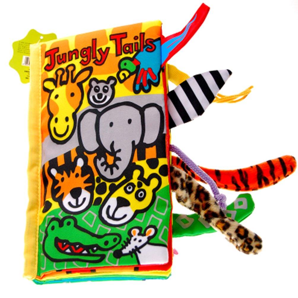colas animales libro de tela bebé de juguete Desarrollo Libros Aprendizaje y Educación(Jungly tails) weiming inc