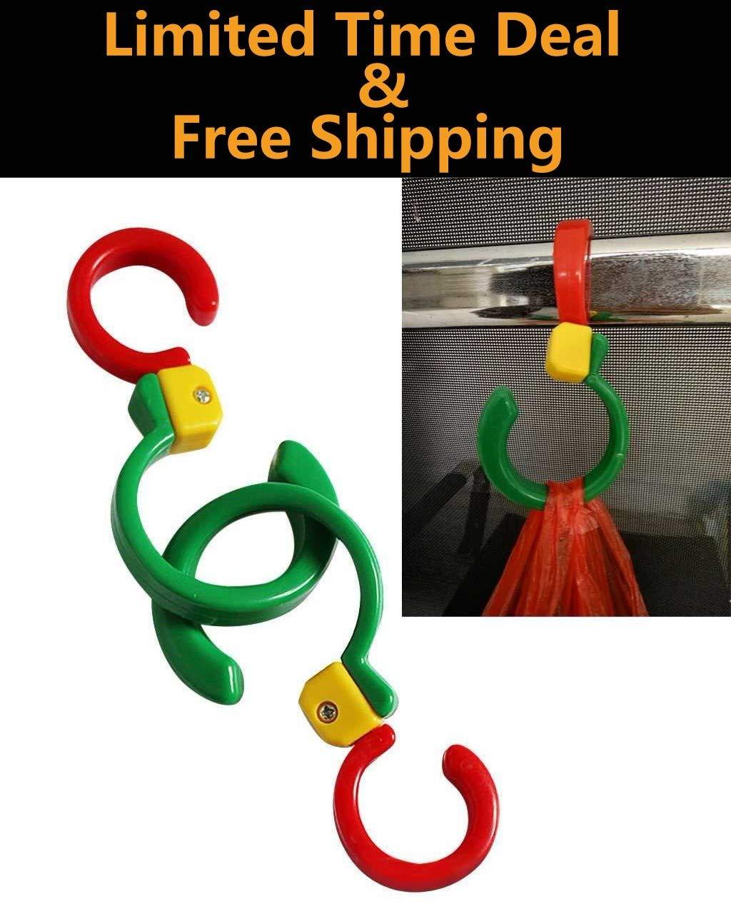 Riforla ⭐⭐⭐⭐⭐ Hook New 2Pc 360° Rotation Hook Clothes Hanger Hook Multi-Fonction Hook Home Supplie Kitchen Door Back Hook Plastic Coat Hook Strong Jewelry Stand Kitchenware Storage Rack Keychain Hook
