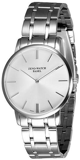 Zeno-Watch Reloj Mujer - Flat Flatline 2 gray - 6600Q-c3M