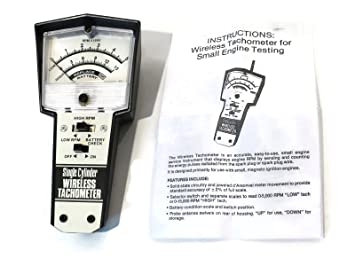 Wireless Tachometer Tach for Small 2 /& 4 Cycle Engines 0 to 15,000 RPM